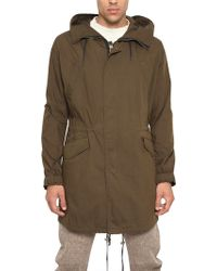 McQ by Alexander McQueen Cotton Canvas Military Parka Jacket green - Lyst