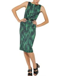 Michael Kors Printed Stretch Viscose Cady Dress - Lyst