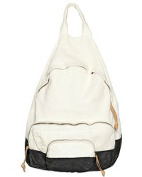 Officine Creative Painted Leather Backpack - Natural