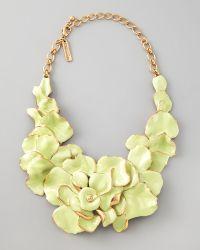 Oscar de la Renta Large Flower Collar Necklace  - Lyst