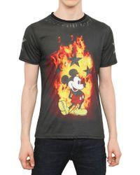 Philipp Plein Mickey Mouse Flame Print Jersey Tshirt - Lyst