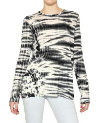 Proenza Schouler Long Sleeved Tie Dye Cotton Jersey Top - Lyst