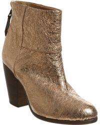 Rag & Bone Newbury Metallic Textured-Leather Ankle Boots