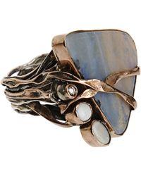 Sandra Dini - Diamond Opal Ring - Lyst