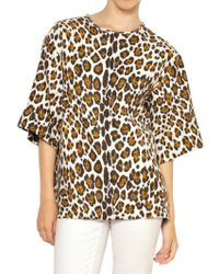 Stella McCartney Leopard Printed Linen Top - Lyst