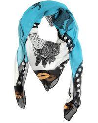 Tom Rebl - Printed Silk Chiffon Scarf - Lyst