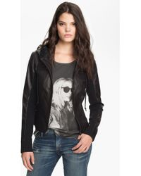 Trouvé Leather Hoodie - Lyst