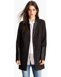 Trouvé Faux Leather Trim Menswear Jacket - Lyst