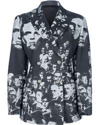 Jean Paul Gaultier Embroidered Blazer - Lyst