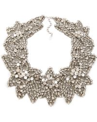 Jenny Packham - Acacia Necklace - Silver - Lyst