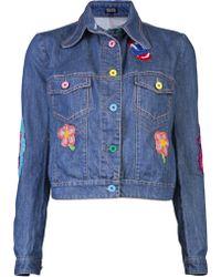 Meadham Kirchhoff Patch Jacket - Blue