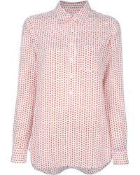 Equipment Star Shirt red - Lyst