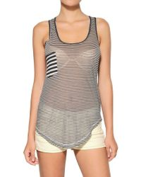 Etoile Isabel Marant Striped Super Light Jersey Tank Top - Lyst