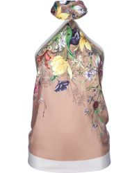 Gucci Floral Print Halter Neck Top - Lyst