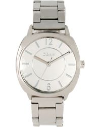 Oasis Silver Bracelet Watch with Square Face - Metallic