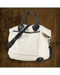 Ralph Lauren Canvas Convertible Tote Bag - Lyst