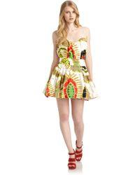 Roberto Cavalli Abstract Cocktail Dress - Lyst