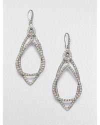 ABS By Allen Schwartz PavÉ Double Loop Earrings - Lyst