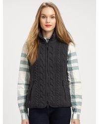 Burberry Brit Cable Knit Vest - Lyst