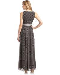 Halston Heritage Printed Silk Long Dress - Lyst