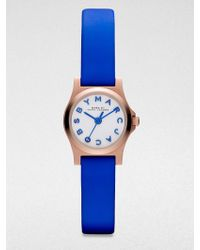 Marc By Marc Jacobs Round Rose Goldfinished Stainless Steel Bright Strap Watch - Lyst