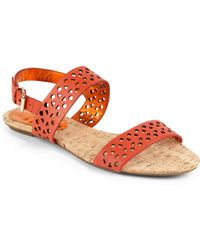 Rebecca Taylor - Claudia Cutout Leather Sandals - Lyst
