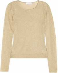 Richard Nicoll | Metallic-knit Sweater | Lyst