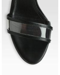 Tibi Dylan Translucent Ankle Strap Sandals - Lyst