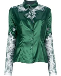 Ermanno Scervino Lace Print Shirt green - Lyst