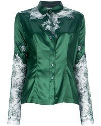 Ermanno Scervino Lace Print Shirt - Lyst