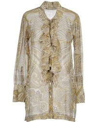 Etro Eagle Printed Silk Shirt - For Women - Lyst