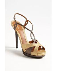 Fendi Strappy Platform Sandal - Lyst