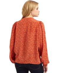 The Addison Story - Cocoon Print Dolman Blouse - Lyst