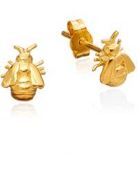 Alex Monroe Bumblebee Earrings - Yellow