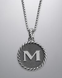David Yurman - Cable Collectibles Initial Charm M - Lyst