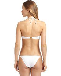 Just Cavalli Hardwaretrim Bandeau Bikini Top - Lyst