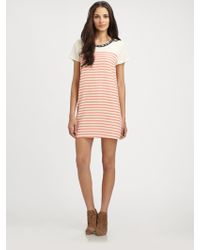 Madison Marcus - Electric Embellished Striped Silk Dress - Lyst