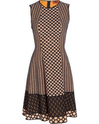 Missoni Mid Length Dress brown - Lyst