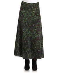 Rebecca Minkoff New Vena Silk Skirtgreen