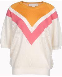 Stella McCartney Colour Degrade Short Sleeved Jumper - Lyst