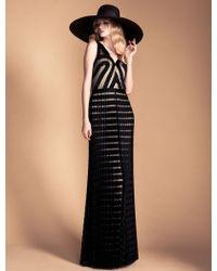 Temperley London Long Ribbon Tulle Dress - Lyst