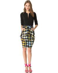 Zero + Maria Cornejo Printed Dress - Lyst