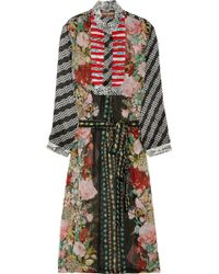Duro Olowu College Printed Georgette Shirt Dress - Multicolor