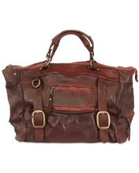 Giorgio Brato - Vintage Weekender Bag in Treated Leather - Lyst