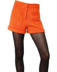 House of Holland - Harris Wool Tweed Shorts - Lyst
