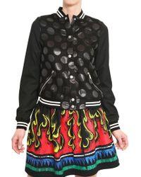 JC de Castelbajac - Waxed Wool Jacquard Polka Dots Jacket - Lyst
