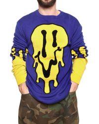 Jeremy Scott Melting Smily Face Sweater - Blue