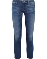 Mother The Looker Cropped Midrise Skinny Jeans - Lyst