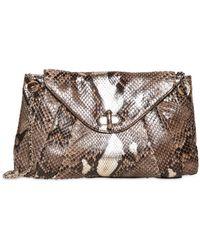 Zagliani - Small Claudia Python Shoulder Bag - Lyst