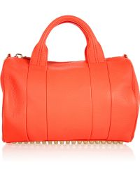 Alexander Wang The Rocco Texturedleather Bag orange - Lyst
